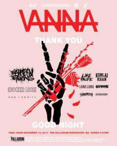 Vanna's last show flyer
